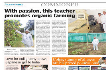 With passion this teacher promotes organic farming